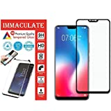 IMMACULATE® [5D] [Full Glue] [Edge To Edge] Tempered Glass Screen Protector For Huawei Honor Play (Pack Of 1, Black)