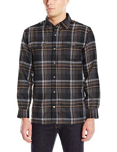 Mountain Khakis Herren Christopher Fleece gefüttert Shirt Small Black Plaid - Plaid Flanell Snap