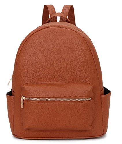 LeahWard® VERA PELLE Italy Genuine Leder Kreuzbeutel Groß Marke AKreuzkörper Handtaschen CW03 Braun