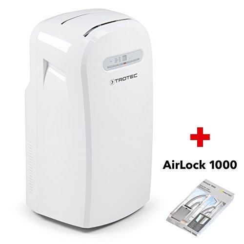 Climatizzatore Portatile a 12000 Btu, Condizionatore D'Aria Locale TROTEC PAC 3500 Monoblocco da 3,5 Kw, EEK A+, incluso Airlock 1000