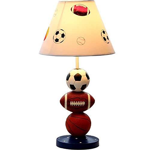 Tischleuchte HAODAMAI Nachttischlampe Dimmbare Basketball-Kugel LED Nachttischlampe for Schlafzimmer Sphärische Lampenschirm 25x50 cm
