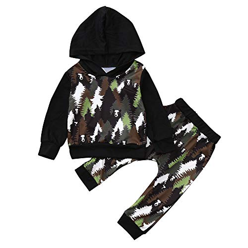 Babykleidung Shopaholic0709 Baby Long Sleeve Woods Panda Print -