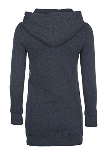 DESIRES Derby Hood Long - Sweater à capuche - Femme Insignia Blue Melange