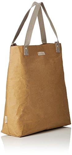 Glückspilz® Einkaufstasche veganes Leder Braun (Braun (papierbraun))