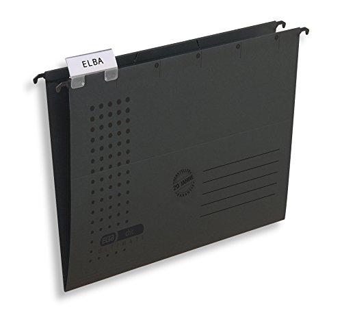 ELBA 100552082 Hängemappe chic ULTIMATE 25er Pack seitlich offen aus 240 g/m² Karton anthrazit