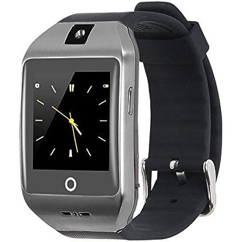 VOSMEP 2016 Smartwatch Reloj Inteligente con Bluetooth 4.0 Muñeca Inteligente Pulsera Deporte con Cámara Pantalla Táctil para Apple/iOS, Samsung /Android, HTC Xiaomi Huawei soporte SMI/TF Smartphones Teléfonos Inteligentes Negro