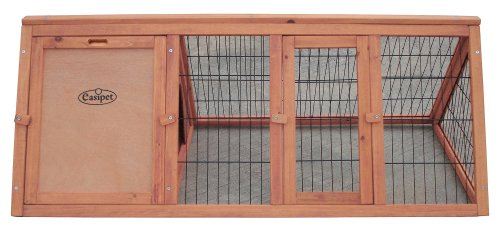 """Easipet Wooden triangle rabbit 46"""" Hutch 21385 3"""