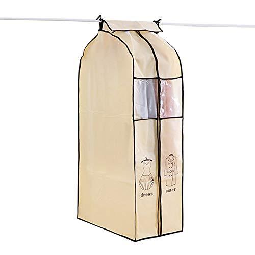 QFFL Clothes bag Staubschutz, 50 * 60 * 108CM Vliesstoff-Kleidersack-stereoskopisches Kleid mit Tanz-Kostüm-hängender Tasche Schutztasche ( Farbe : Blue L , größe : 35*60*110CM ()