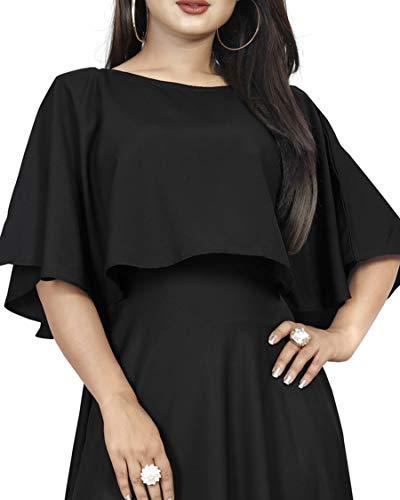 Rangrasiya Corporation Women's Crepe Cocktail Dress (Black)