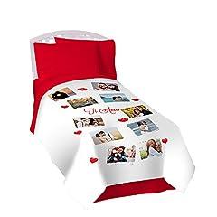 Idea Regalo - Coperta personalizzata in pile plaid 130x170 con foto, scritte e loghi