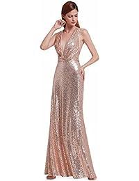Ever-Pretty Abito da sera con scollo a V abito da sera elegante lungo con 28b24c83925