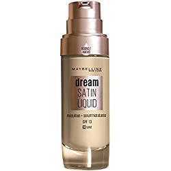 Maybelline New York Base de Maquillaje con Sérum Hidratante Dream Satin Liquid, Tono 030 Sand
