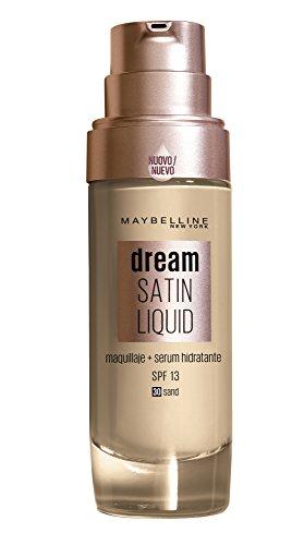 Maybelline Base de Maquillaje con Sérum Hidratante Dream Satin Liquid, Tono 030 Sand