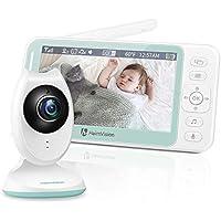 Vigilabebes Inalambrico con Pantalla LCD HD de 4.3 Pulgadas, Vigila Bebés con Visión Nocturna, Sensor de Temperatura y VOX, Cámara para Bebes con Audio Bidireccional, 8 Canciones de Cuna