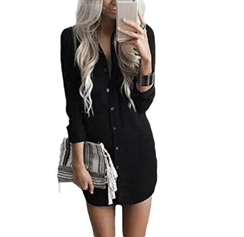 CuteRose Women Casual Long Sleeve Button Down for Office Wear Western Shirt Black S (Western Shirt 4x)