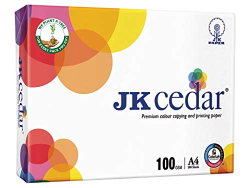 JK Paper Cedar A4 500 Sheets, 100 GSM -Box (5 Reams)