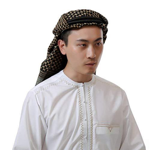 Kopfbedeckung Herren Ethno Style Arabischer Kopfschmuck Klassiker Kariert Einfach Fashion 1001 Nacht Karneval Cosplay Kostüm Zubehör (Color : 25, Size : One Size)