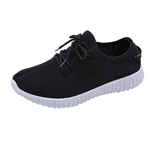 Zegeey Femme Basket Mode Chaussures de Sports Course Sneakers Fitness Gym athlétique Multisports Outdoor Casual Engrener Formateurs Athlétique Gym Chaussures Sport Run(Noir,EU35)