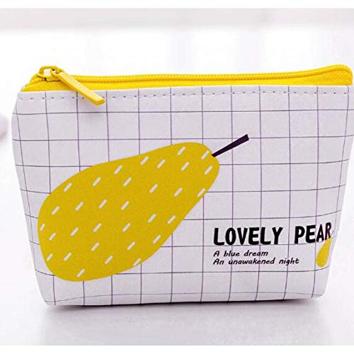 TRHRJI Federmäppchen Cute School Federmäppchen für Mädchen Jungen Leder Big Pen Bag Pencilcase Pouch Schule Storage Stationery , Style 3 Birne -