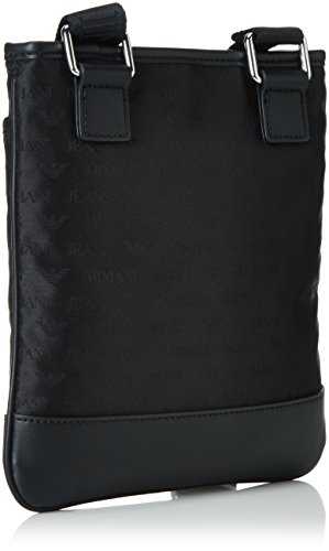 Armani Jeans Jacquard Uomo Cross Body Bag Nero Nero