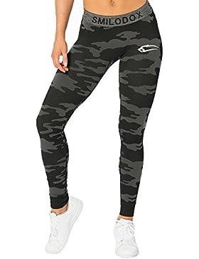 SMILODOX Camouflage Leggings Damen 'Army'   Seamless - Figurformende Leggins für Sport Fitness Gym Training &...