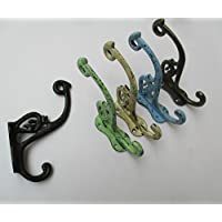 Ironmongery World® in ghisa stile vintage decorativo Fancy Shabby Chic Appendiabiti, BLACK ANTIQUE