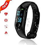 Orologio Fitness Tracker Smartwatch Android iOS Cardiofrequenzimetro Impermeabile Smart Band con Contatore Conta Passi, Calorie,Contapassi Orologio