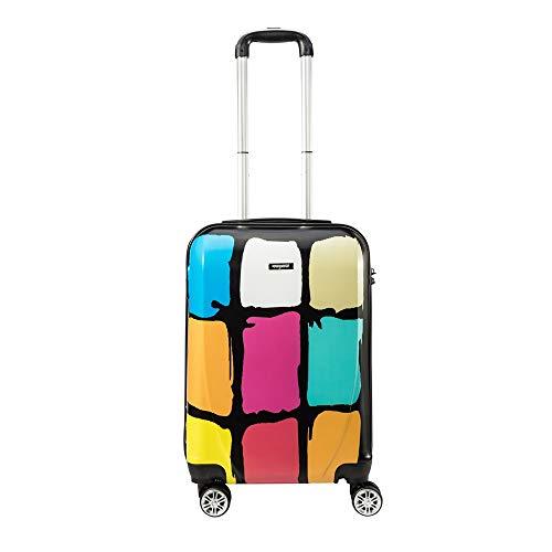 AMASAVA Hartschale 4 Rollen Handgepäck Trolley Koffer Bordgepäck Kabinentrolley Reisekoffer Gepäck Leichtgewicht ABS+Polypropylen, Genehmigt für Ryanair, Easyjet, Lufthansa und Vieles Mehr