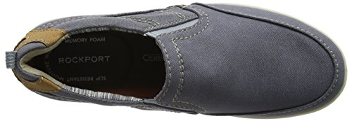 Rockport Gryffen Mudguard Slip On, Mocassins Homme Grey (grey Canvas)