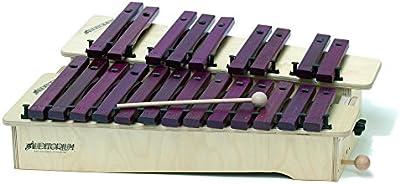 782 Gitre/C 590 x 250 x 100 mm 9 notas Soprano metalófono afinador cromático