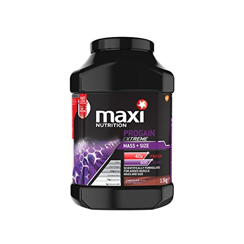 MaxiNutrition Progain Extreme Mass and Size Protein Shake Powder, 1.5 kg - Chocolate