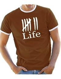 Touchlines B5052Men's Contrast Ring Neck T-Shirt Life-Charlie Crews B5049