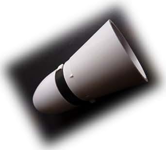 Dencon Baïonnette Bouchon en Bakélite Barre de Poussée Porte-Lampe - Jupe Ample avec Ouverture Filetée 13mm et Serre-Câble Interne