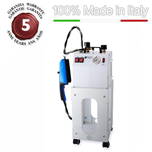 EOLO AV03 Spazzola a vapore professionale per lo stiro in verticale con caldaia in rame a risparmio energetico (3,5 litri a ricarica semicontinua) e resistenza esterna anticalcare