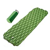 ZYXA Isomatte Camping Schlafmatte Ultraleicht Kleines Packmaß. Aufblasbare Luftmatratze für Outdoor Camping, Reise,Trekking und Backpacking,Green