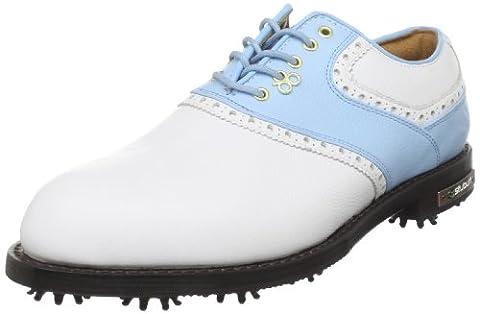 Stuburt 2012 Men's DCC Classic Golf Shoes - White/Sky Blue 10 uk