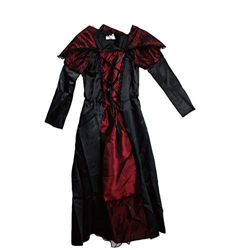 XIAHE Halloween Kostüme Kinder Tag Cosplay Kostüm Königin Mädchen Vampir Samtkleid