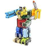 Morningtime Robot Deformation Giocattolo, trasformatore, 10 Pezzi, assemblaggio dei Piccoli Bambini, Scheda Grafica Digitale, Particelle Puzzle