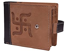 Krosshorn Tan Hunter Leather Wallet for Men