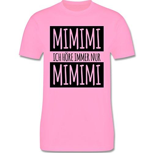 Statement Shirts - Ich höre immer nur Mimimi - Herren Premium T-Shirt Rosa