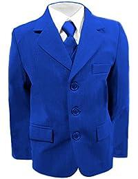 Niños Traje de Boda, Royal Azul Suit, Graduación, Fiesta y cruceros de 6Meses–16años