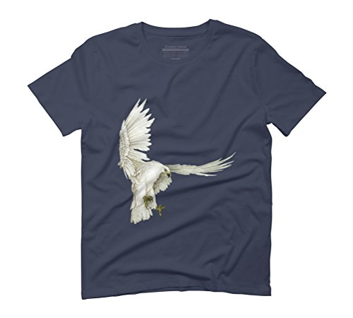 Mongolia Eagle Men's Graphic T-Shirt - Design By Humans Navy