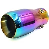 sourcing map 33mm-65mm Diám. Ajuste Tubo Silenciador Circular Cola de Escape de Coche Metal