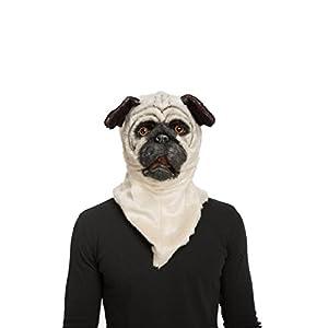 My Other Me Me-204680 Máscara con mandíbula móvil bull dog, Talla única (Viving Costumes 204680)