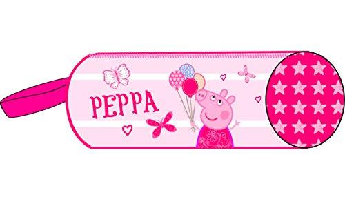 Peppa Pig-Estuche escolar, diseño de Peppa Pig globos