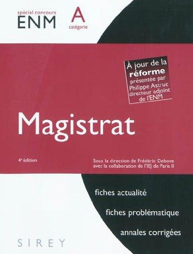 Magistrat. Catégorie A