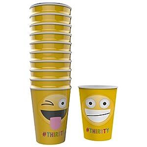 NPW Emoticon Party Pappbecher-Sortiert Papier Tassen Get emojinal