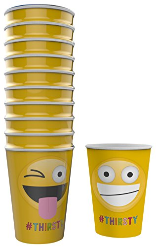 npw Emoticon Party Pappbecher – sortiert Papier Tassen Get (Party Supplies Childrens)