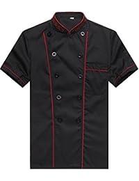 WAIWAIZUI Cocina Uniforme Camisa de Cocinero Manga Corta