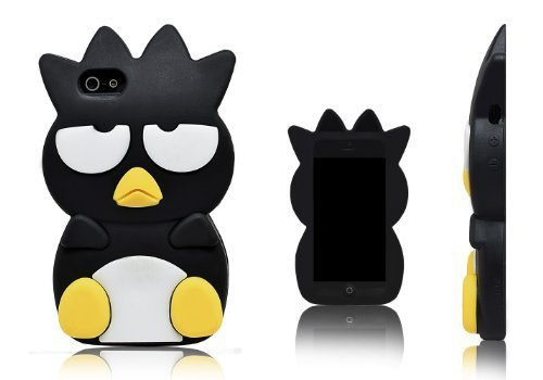 Xcessor Chicken Pollo Custodia in Silicone per Apple iPhone SE / 5S / 5. Nero